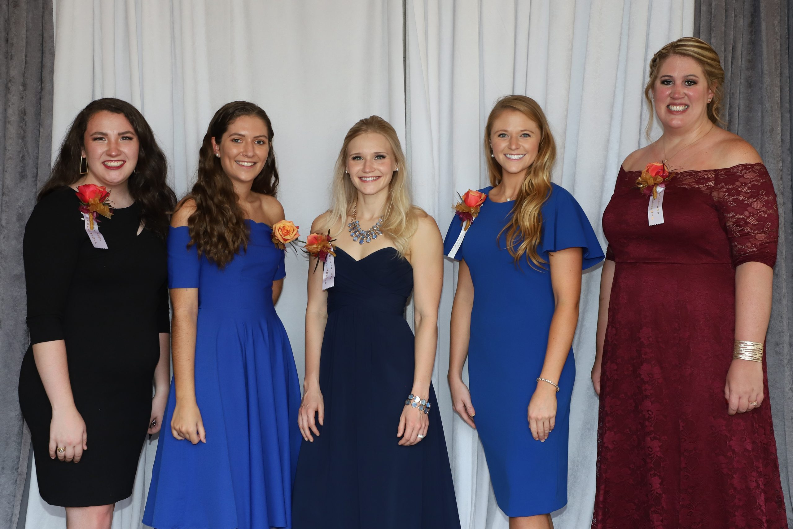 L to R, the 5 who attended: Michaela Yost, Sophia Ebel,  Nicole Karson, Emily Thompson,  Tara Freeman