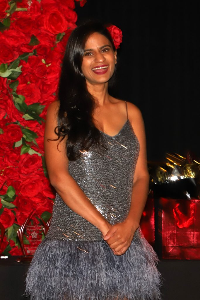Mistress of Ceremonies Pooja Lodhia of ABC13 (Photo by Barfield Photography)