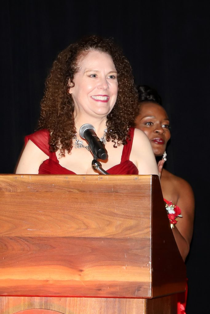 Nancy Hall announcing the Women of Excellence (Photo by Barfield Photography)